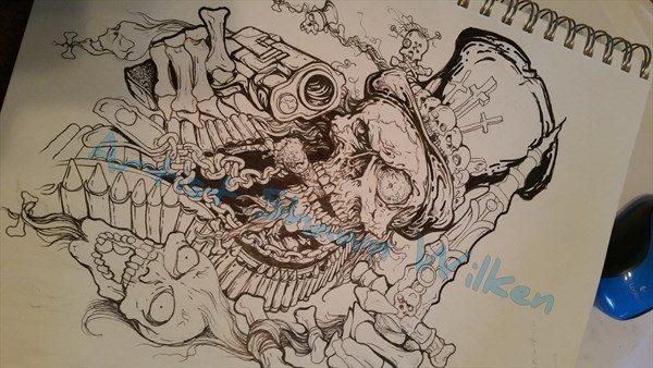 voodoo sketchbook art